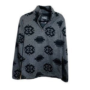 Urban pipeline gray 1/2 tribal printed long sleeve